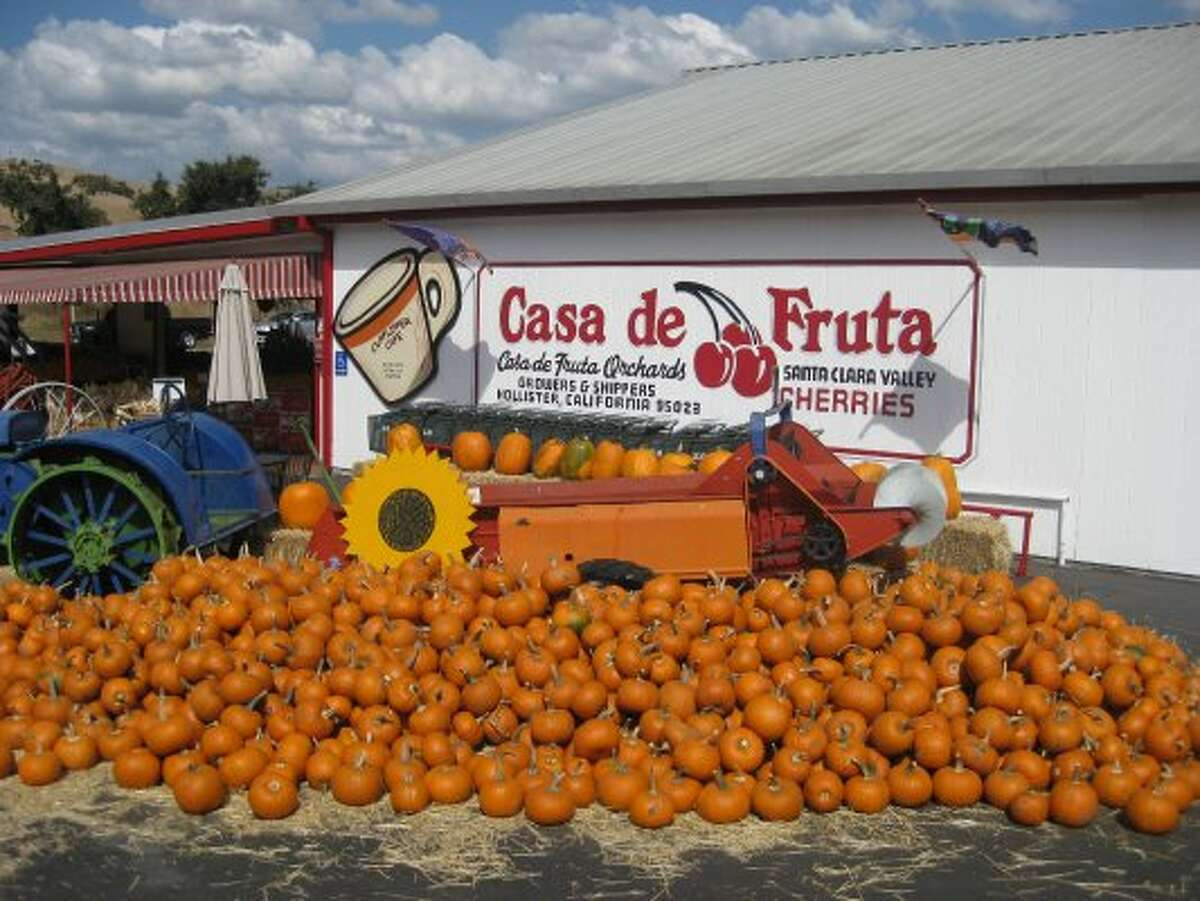 Casa de Fruta, Hollister. En route to I-5, many hungry travelers pass by to stock up on fruit and snacks on their way south. 10021 Pacheco Pass Hwy., (408) 842-7282