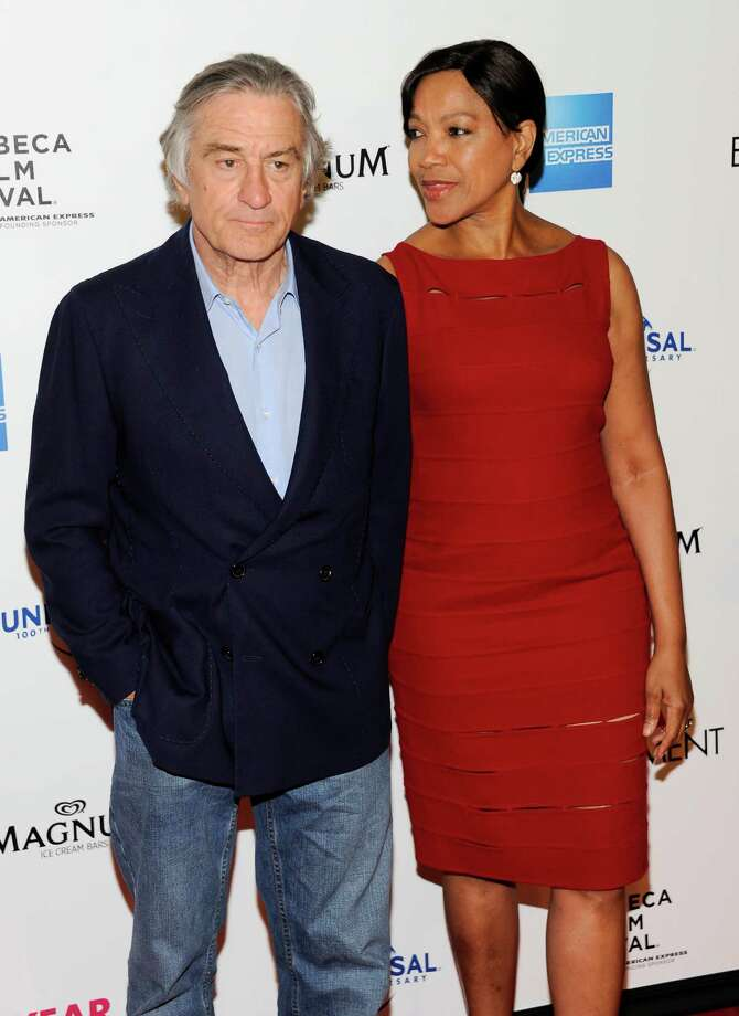 "Actor Robert De Niro and wife Grace Hightower attend the Tribeca Film Festival opening night premiere of ""The Five-Year Engagement"" at the Ziegfeld Theatre on Wednesday, April 18, 2012 in New York. Photo: Evan Agostini, AP / AGOEV"