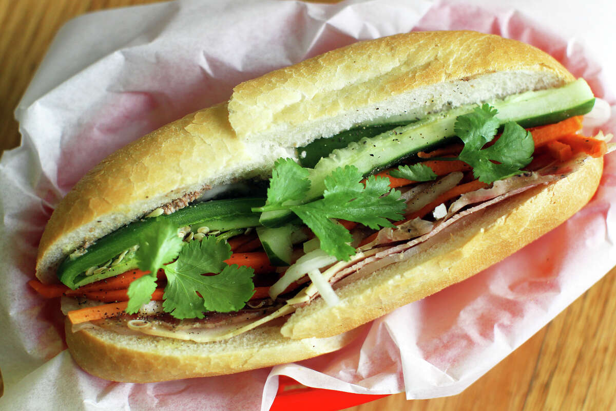 Special combination banh mi at Cajun Seafood & Sandwiches, Monday, April 16, 2012. (JENNIFER WHITNEY)