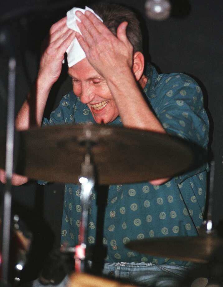 Special to the Times Union by Will Waldron. -- December 29 1999 --   Levon Helm famed The 'Band drummer' wipes a sweaty brow while performing with his new group the 'Barn Burners' during a performance at Joyous Lake Nightclub in Woodstock. Photo: WILL W ALDRON / ALBANY TIMES UNION