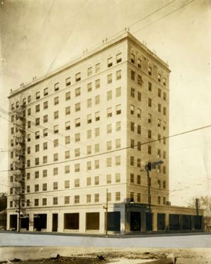 Ben Milam Hotel under construction, circa 1925. (Chronicle file)