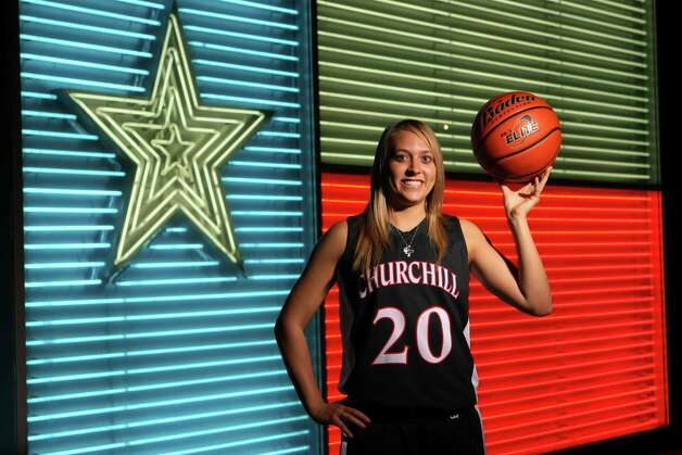WINTER 2012 All Area Team: Leslie Vorpahl, Churchill basketball, photographed at the Institute of Texan Cultures. Helen L. Montoya/San Antonio Express-News Photo: HELEN L. MONTOYA, San Antonio Express-News / ©SAN ANTONIO EXPRESS-NEWS