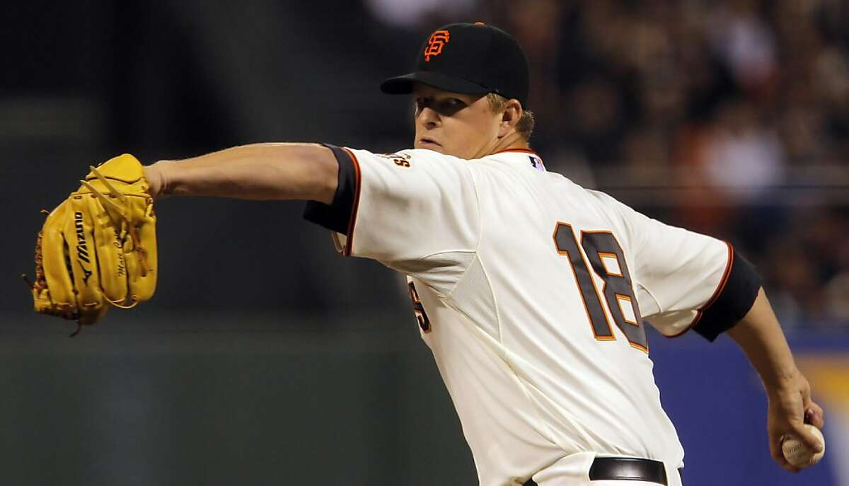 Matt Cain started for the Giants and gave up two hits and no runs in nine innings. The San Francisco Giants defeated the Philadelphia Phillies 1-0 in 11 innings on a Melky Cabrera single that scored Brandon Belt on Wednesday, April 18, 2012, at AT&T Park in San Francisco, Calif.