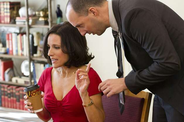 VEEP: Julia Louis-Dreyfus, Tony Hale. Photo: Bill Gray, HBO