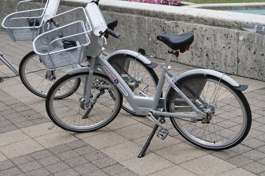Bicycles that will be used in Houston's bike-share program, which launches on May 2. Photo: Xx