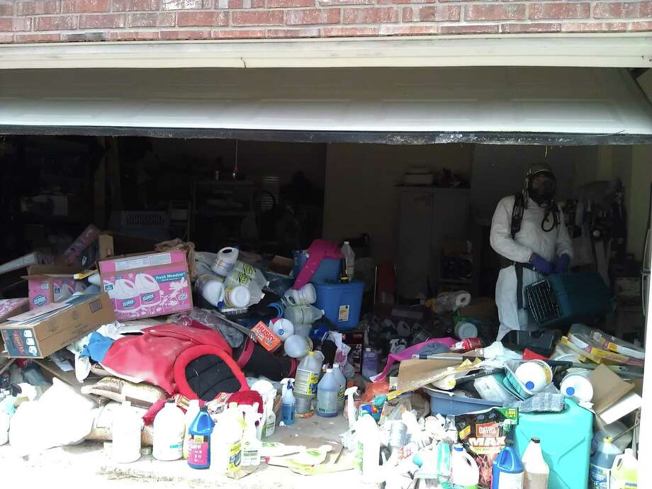 Beaumont Animal Services seized two cats and about 20 deceased cats from a foreclosed home on Sandelwood Trail in Beaumont. Photo provided by Beaumont Animal Services. Photo: Provided
