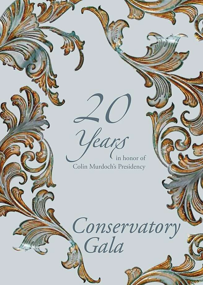 20 years in honor of Colin Murdoch's Presidency.  Marie-Jose and Kent Baum, co-chairs cordially invite you to the Conservatory Gala celebrating Colin Murdoch's 20th Anniversary as President of the Conservatory.  Tuesday, April 24, 2012 Photo: Eburr, SF Conservatory Of Music