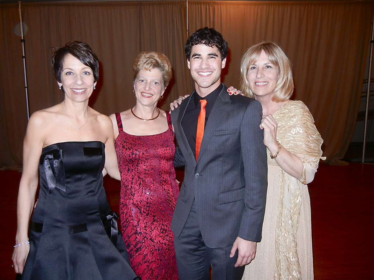 ACT Gala Chairwoman Patti Rueff (left) with ACT Artistic Director Carey Perloff, ACT Alum and Glee star Darren Chriss and ACT Executive Director Ellen Richard at the ACT Gala. April 2012. By Catherine Bigelow.