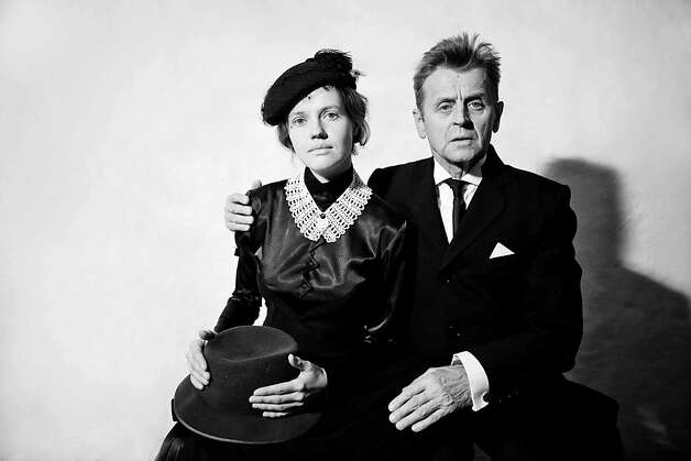 Mikhail Baryshnikov (right) and Anna Sinyakina perform at Berkeley Rep in a special presentation of In Paris.  Photographer: Anna Akartseva Photo: Anna Akartseva