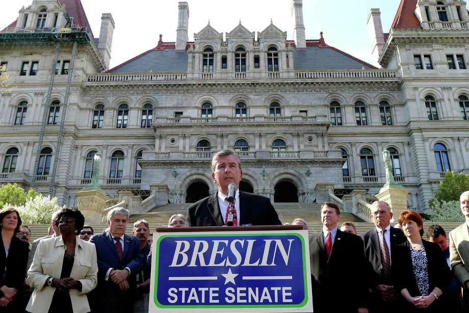 Senator Neil Breslin announces he will seek re-election at the Capitol in Albany N.Y. Thursday April 19, 2012. (Michael P. Farrell/Times Union) Photo: Michael P. Farrell / 00017310A