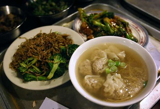 Won ton soup and other dishes are ready to serve to loyal lunch time customers at Chinatown's legendary Sam Wo restaurant in San Francisco, Calif. on Thursday, April 19, 2012. The restaurant's owner is closing its doors for good on Friday. Photo: Paul Chinn, The Chronicle