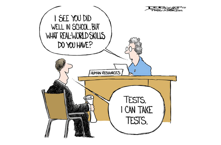 Education system focuses on tests. Photo: John De Rosier