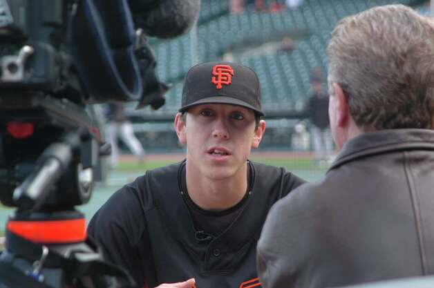 Rookie Tim Lincecum during ESPN interview Photo: Matisse200, Matisse200 / Reader Photo