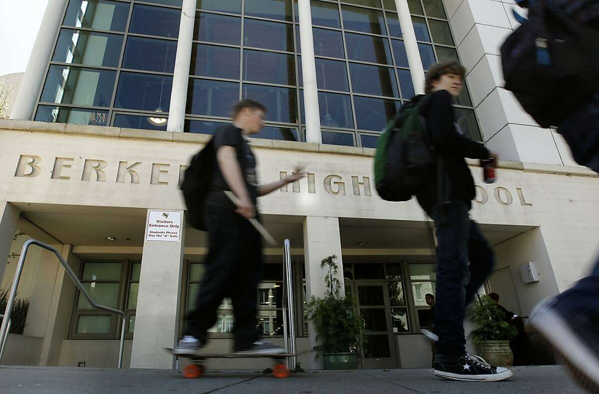 Students on lunch break at Berkeley High School on Thursday April 19, 2012, in Berkley,Ca. Berkeley High School caught dozens of student hackers breaking into its attendance site. This is high stakes because attendance is now tied to grades. Some of the hackers have been suspended.
