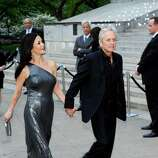 Actors Catherine Zeta-Jones and Michael Douglas attend the Vanity Fair Tribeca Film Festival party at the State Supreme Courthouse on Tuesday, April 17, 2012 in New York.