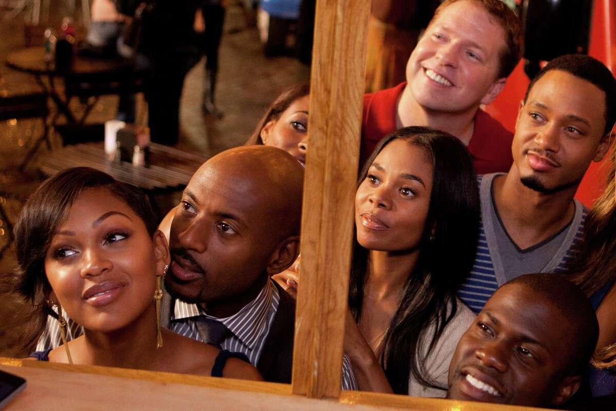 Mya (Meagan Good), Zeke (Romany Malco), Candace (Regina Hall), Bennett (Gary Owen), Michael (Terrence J), and Cedric (Kevin Hart) in Screen Gems' comedy THINK LIKE A MAN.
