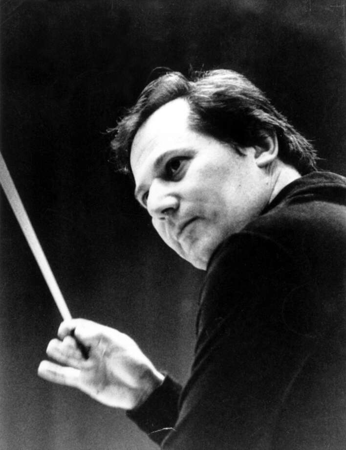 Salvatore Princiotti, the founder and longtime conductor of the Stamford Young Artists Philharmonic, conducts the group during a performance about 30 years ago. Princiotti, who has been with the organization for 52 years, is retiring after this season. A farewell concert is planned for Sunday, May 6, at the Palace Theatre in Stamford. Photo: Contributed Photo