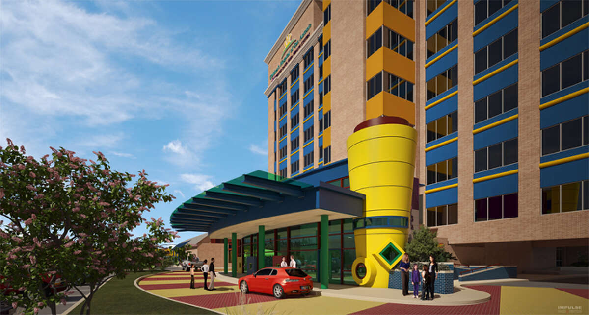 Artist rendering showing the ground view of Children's Hospital of San Antonio.