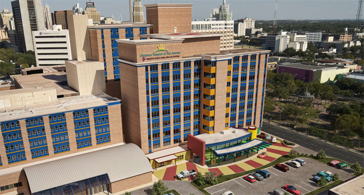 Artist rendering showing the a aerial view of Children's Hospital of San Antonio.