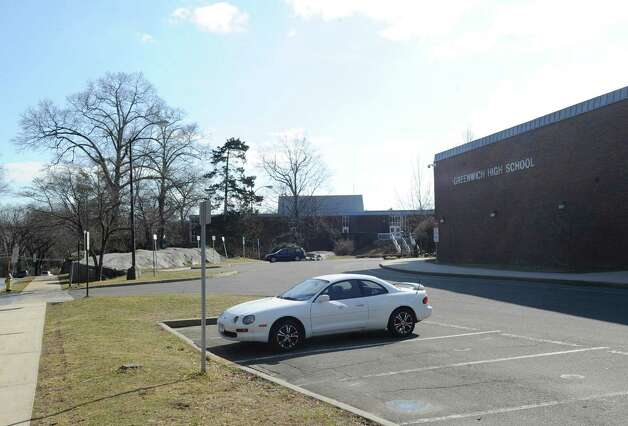 Toxins discovered in the soil on Greenwich High School property during 2011 have stalled the school's auditorium project. In the latest findings released Friday, April 20, 2012, toxic substances have been found in groundwater in a well located between one of the fields at the center of the property and the back parking lot. This is a spot where the highest PCB levels were also found in the soil. Samples came from 10 wells installed at the school in December and February. Photo: Bob Luckey / Greenwich Time