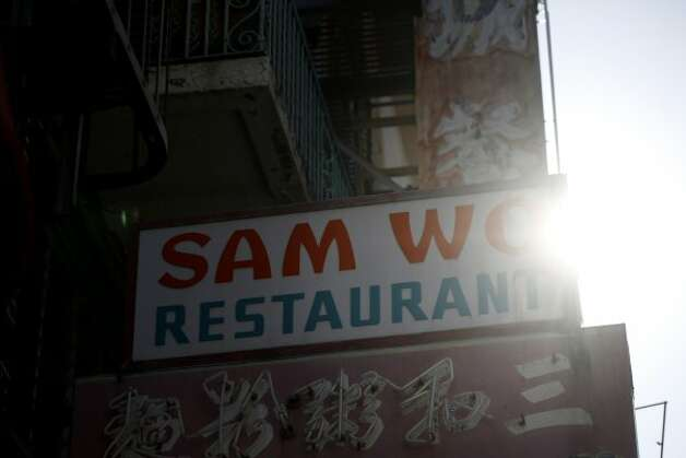 The end of an era - The final days of Sam Wo on Thursday April 19, 2012 in San Francisco, Calif. (The Chronicle)