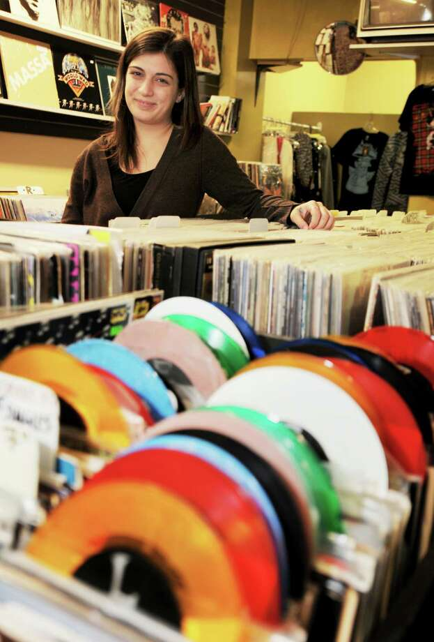 "Brittany Nasser, the owner of ""Divinyl Revolution"", on Broadway in Saratoga Springs, NY, on Tuesday, May 18, 2010. (Times Union Archive) Photo: LUANNE M. FERRIS / 00008715A"