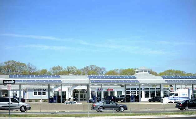 The newly renovated I-95 travel plazas in Milford, Conn. Photo: Autumn Driscoll / Connecticut Post