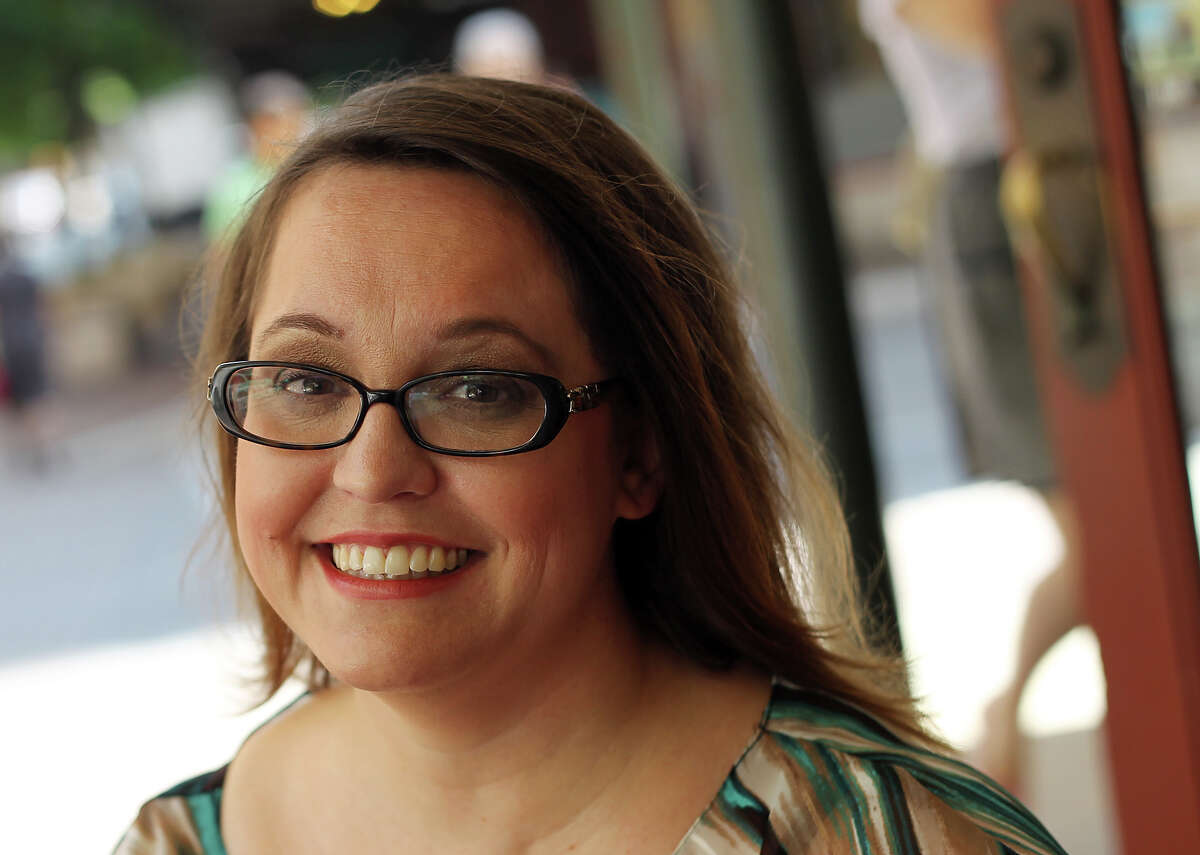 Blogger and author Jenny Lawson is promoting her book, Let's Pretend This Never Happened (A Mostly True Memoir). Lawson gained internet fame for her blog, The Blogess, which she started over 10 years ago. Kin Man Hui/Express-News.