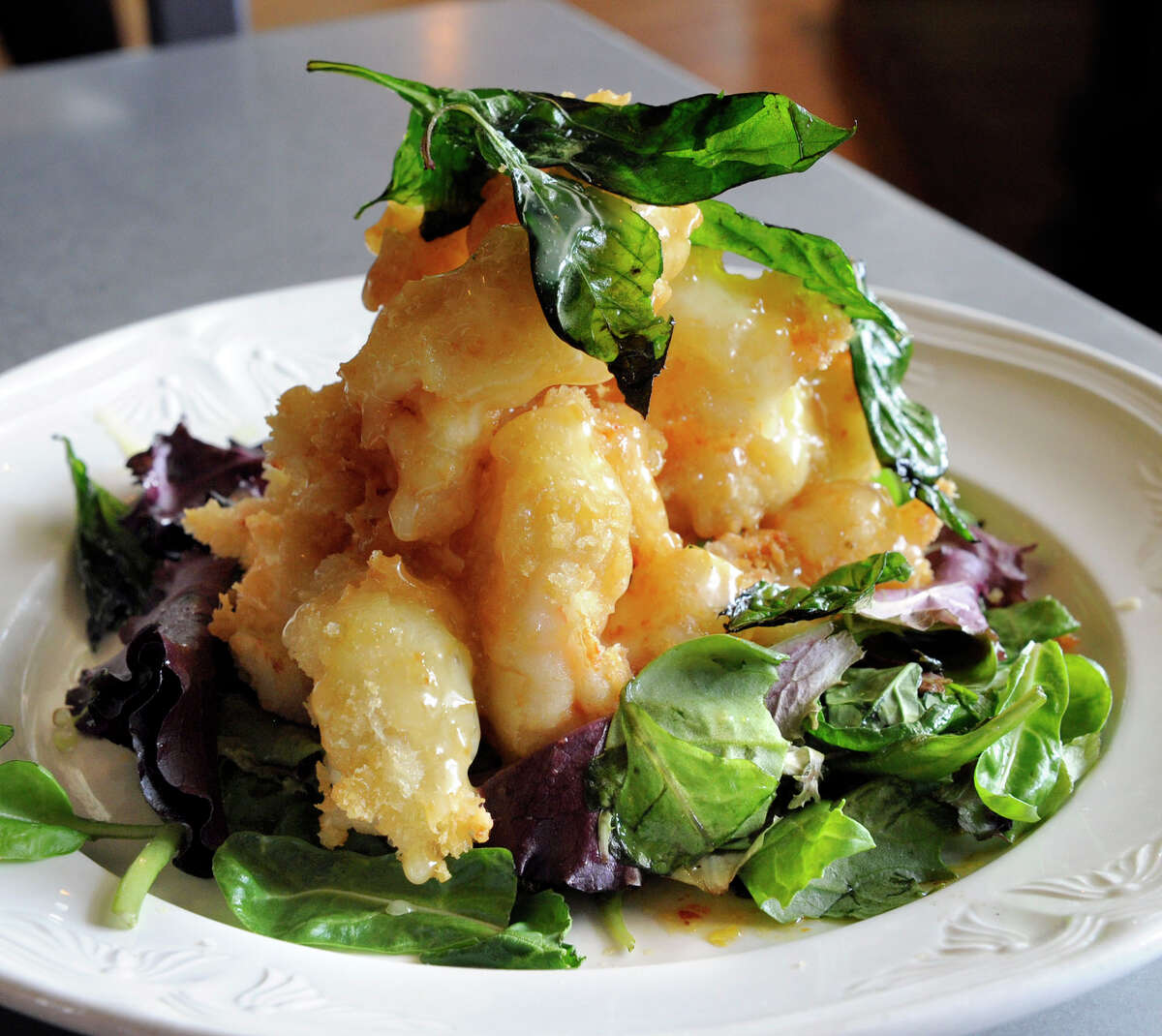 Tempura Schrimp at Wild Ginger in Ridgefield. Wild Ginger shut down on Monday, Oct. 23 at the end of its lease.