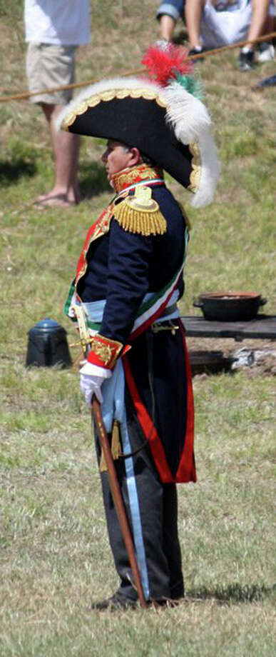 Hilario De La Peña, who will be portraying Santa Anna tomorrow at the San Jacinto Monument in an annual re-enactment. It may be his his last time to portray Santa Anna. Photo: COURTESY PHOTO / COURTESY PHOTO