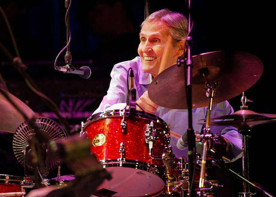"In this Nov. 18, 2011 photo, Levon Helm plays drums during the ""Shelter From the Storm"" benefit concert at the Ulster Performing Arts Center in Kingston, N.Y. Helm, who was in the final stages of his battle with cancer, died Thursday, April 19, 2012 in New York.  He was 71.  He was a key member of The Band and lent his distinctive Southern voice to classics like ""The Weight"" and ""The Night They Drove Old Dixie Down."" Photo: John DeSanto, Times-Herald Record / AP"
