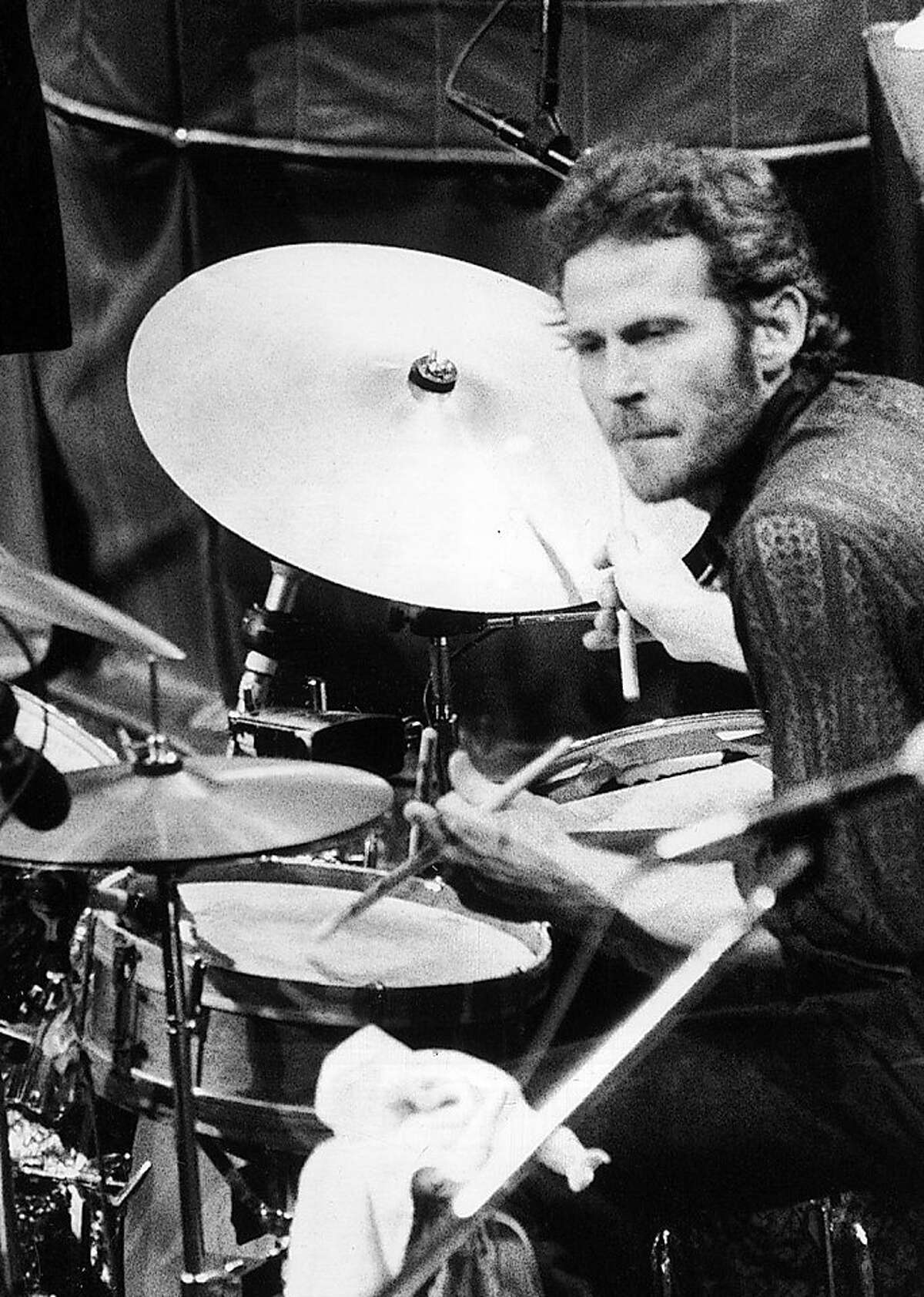 FILE - In this Nov. 27, 1976 file photo, Levon Helm, of The Band, playes drums at the band's final live performance at Winterland Auditorium in San Francisco. Helm, who was in the final stages of his battle with cancer, died Thursday, April 19, 2012 in New York. He was 71. He was a key member of The Band and lent his distinctive Southern voice to classics like