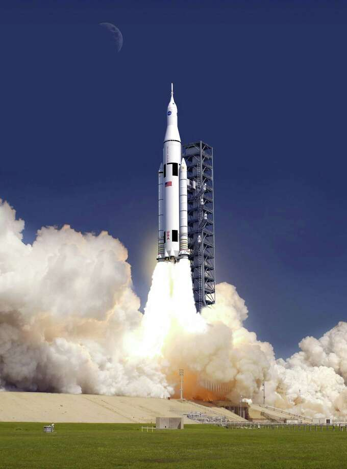 The costs of developing the Space Launch System, shown in this NASA illustration, are crowding out funding for other projects that would be managed by JSC. Photo: NASA / 2011 NASA
