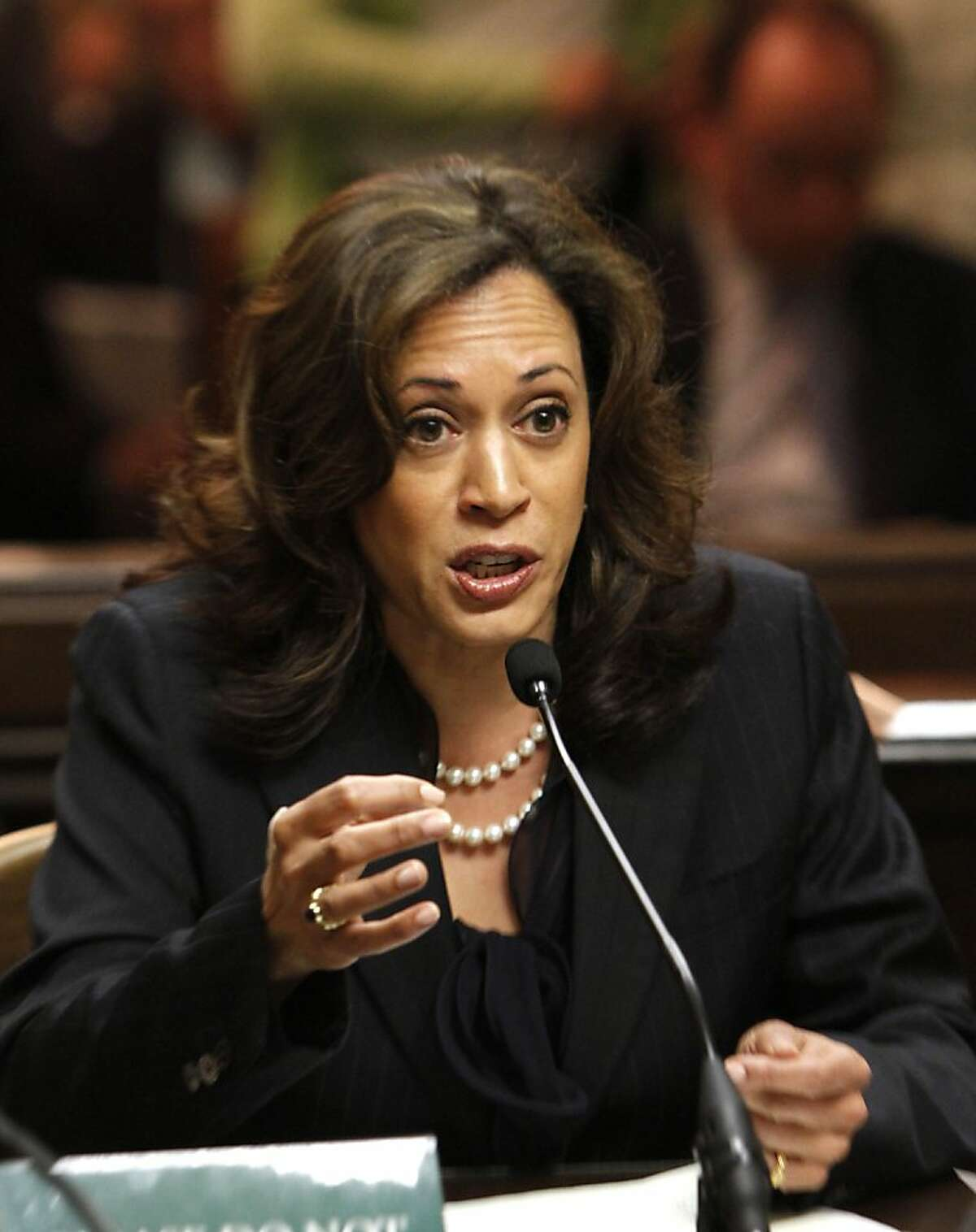 State Attorney General Kamala Harris may be in line for the top job at Justice.