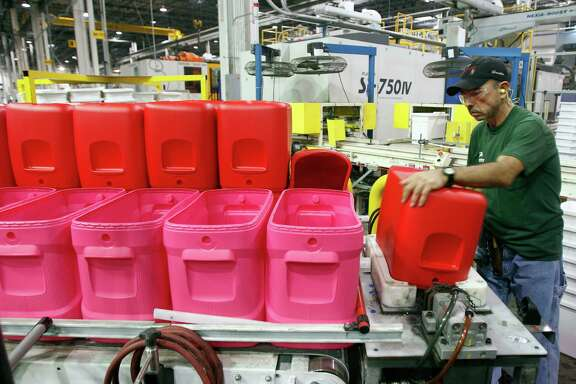Juan Hernandez does his part on a production line at Igloo's 1.3-million-square-foot manufacturing and warehouse operation in Katy. It employs about 700 full-time workers.