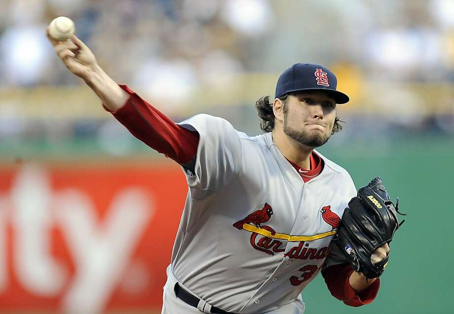 St. Louis Cardinals relief pitcher Lance Lynn (31) delivers against the St. Louis Cardinals during the first inning of a baseball game on Friday, April 20, 2012, in Pittsburgh. (AP Photo/Don Wright) Photo: Don Wright, Associated Press
