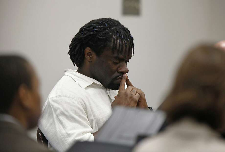 Death row inmate Marcus Robinson listens as Cumberland County Senior Resident Superior Court Judge Greg Weeks found that racial bias played a role in his trial and sentencing on Friday, April 20, 2012, in Fayetteville, North Carolina. The historic ruling means Robinson's sentence was immediately converted to life without possibility for parole. It was the first case to be decided under the North Carolina's Racial Justice Act. (Shawn Rocco/Raleigh News & Observer/MCT) Photo: Shawn Rocco, McClatchy-Tribune News Service