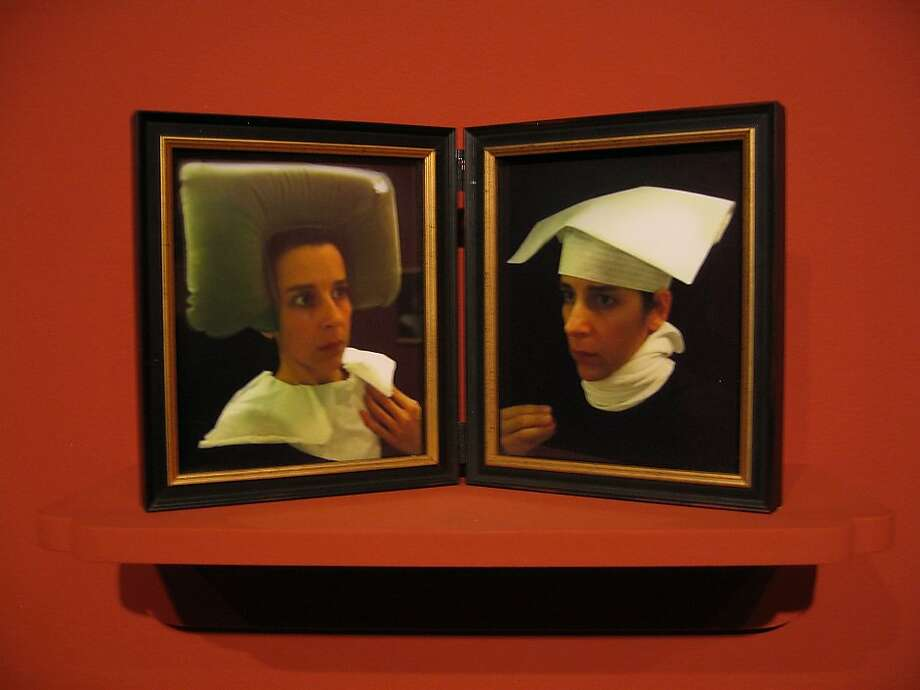"""Lavatory Self-Portraits in the Flemish Style, #18-19"" (2011) c-print diptych by Nina Katchadourian   edition of 8 Photo: Nina Katchadourian"