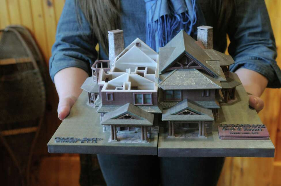 A model example of what a duplex at the The Adirondack Club resort might look like, is seen at The Adirondack Club offices on Thursday March 29, 2012 in Tupper Lake, NY. This design is the work of Saranac Lake architect Andrew Chary. (Paul Buckowski / Times Union)