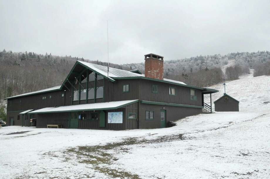 A view of the main lodge building at the ski hill at the Big Tupper Ski hill on Thursday March 29, 2012 in Tupper Lake, NY.   Because of a lack of snow this ski season there were only 12 days of skiing at the ski hill this season.  The ski hill is now shut for the season.  (Paul Buckowski / Times Union) Photo: Paul Buckowski