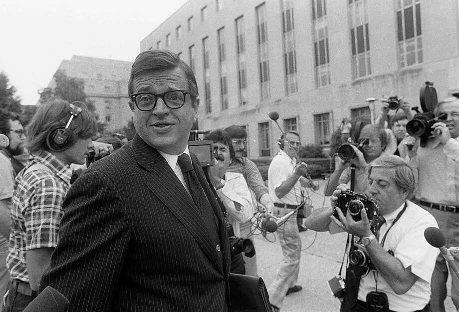 In this June 21, 1974 , file photo former Nixon White House aide Charles W. Colson arrives at U.S. District Court in Washington to be sentenced for obstructing justice.  Colson, the tough-as-nails special counsel to President Richard Nixon who went to prison for his role in a Watergate-related case and became a Christian evangelical helping inmates, has died. He was 80. Jim Liske, chief executive of the Lansdowne-based Prison Fellowship Ministries that Colson founded, said Colson died Saturday, April 21, 2012. Photo: Bob Daugherty, Associated Press