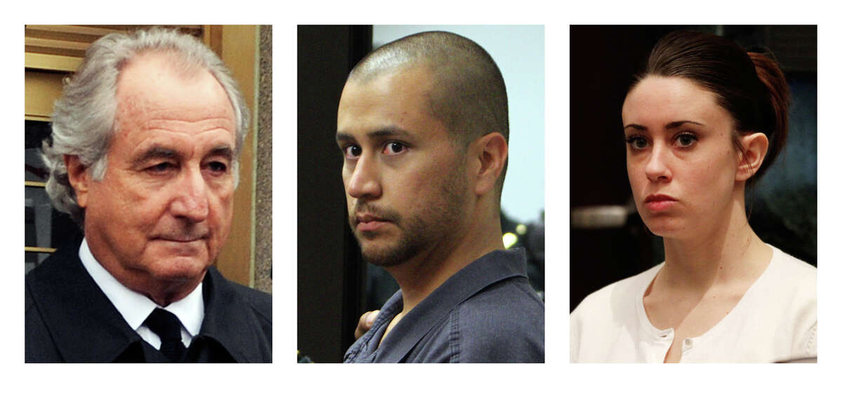 FILE- This combo of file photos shows, from left, Bernard Madoff, George Zimmerman and Casey Anthony. George Zimmerman is getting out of jail and his defense team will be ensuring the safety of the 28-year-old neighborhood watch volunteer, who could be out of jail within days while he awaits trial on a charge that he murdered 17-year-old Trayvon Martin. Madoff and Anthony's safety were a concern upon their release from prison in earlier cases.