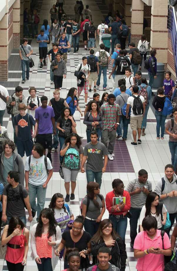 Students walk the hallways in between classes at Morton Ranch High School last week. Katy ISD's Morton Ranch and Mayde Creek are among the top area comprehensive urban high schools. Photo: J. Patric Schneider / Houston Chronicle