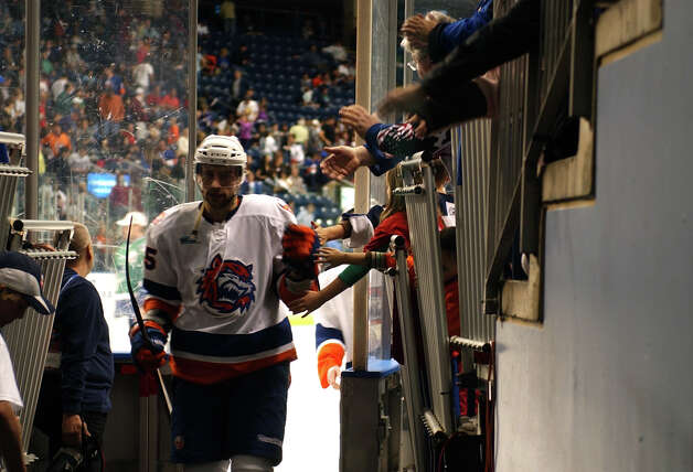 Highlights from hockey action between the Sound Tigers and Connecticut Whale at the Webster Bank Arena in Bridgeport, Conn. on Saturday April 21, 2012. Photo: Christian Abraham / Connecticut Post