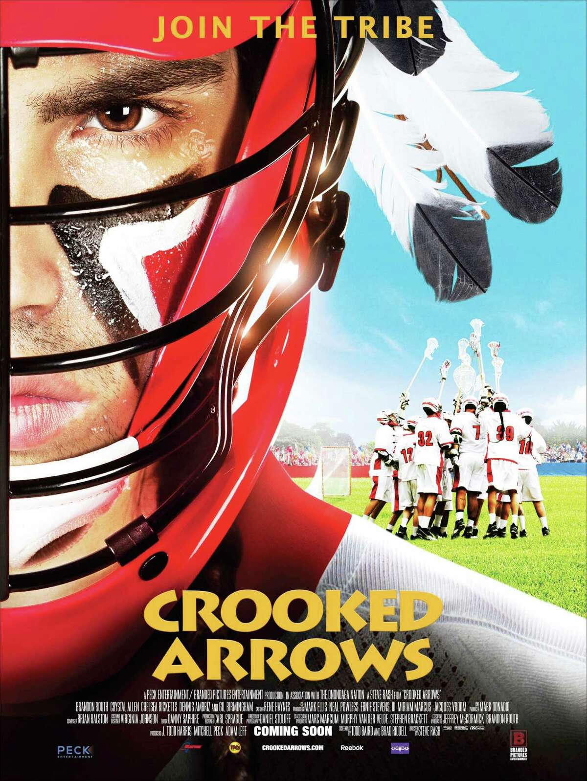 Movie poster for Crooked Arrows, a film about lacrosse getting an early release in Albany. (Provided photo)