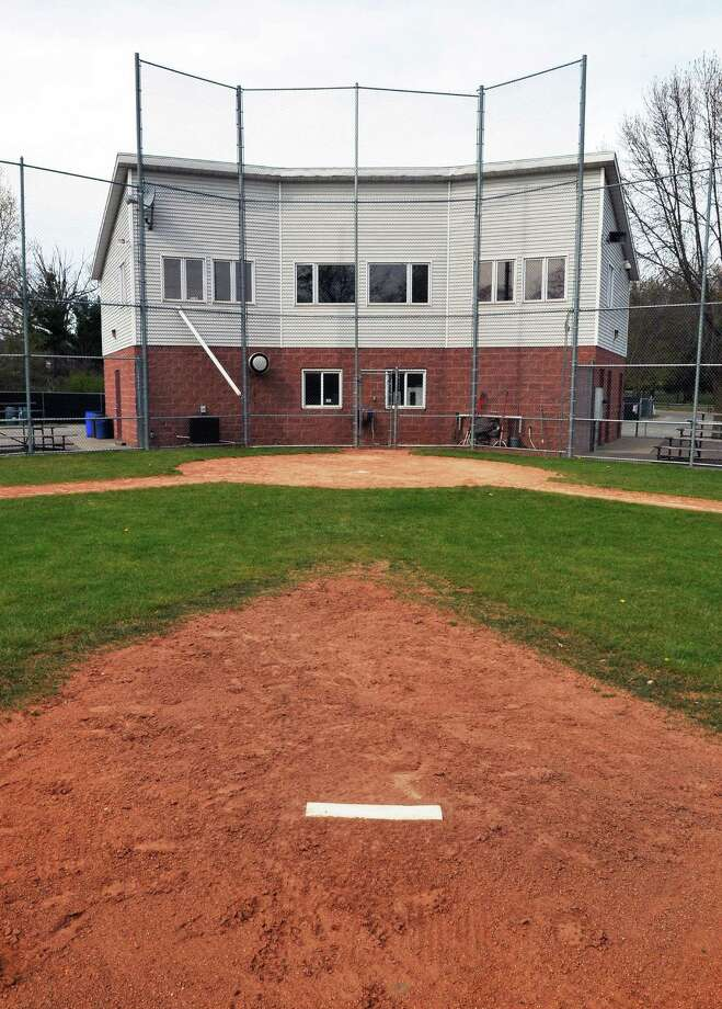 "View from the pitcher's mound at Cook Park little league ""majors"" field in Colonie April 18, 2012.   (John Carl D'Annibale / Times Union) Photo: John Carl D'Annibale / 00017305A"