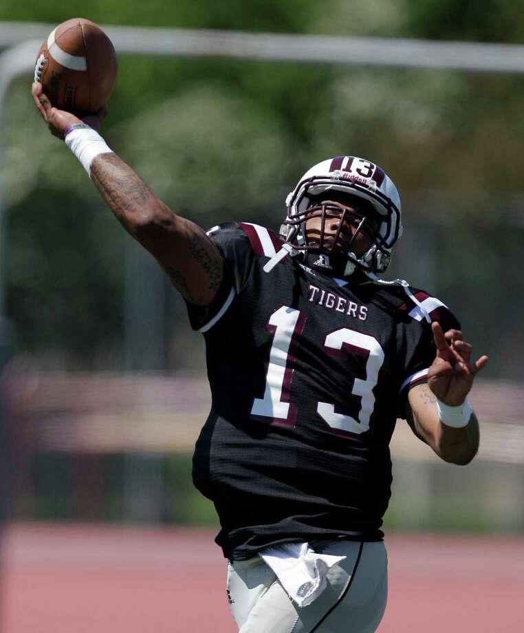 "Texas Southern senior quarterback Riko Smalls will call plays in the new ""Magnolia spread"" offense. Photo: Melissa Phillip / © 2012 Houston Chronicle"