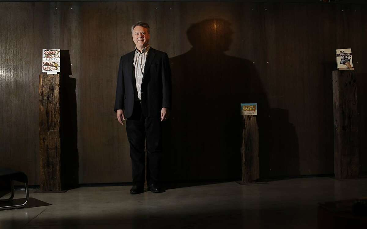 Nion McEvoy is seen in the lobby at Chronicle Books headquarters on Monday, March 26, 2012 in San Francisco, Calif.
