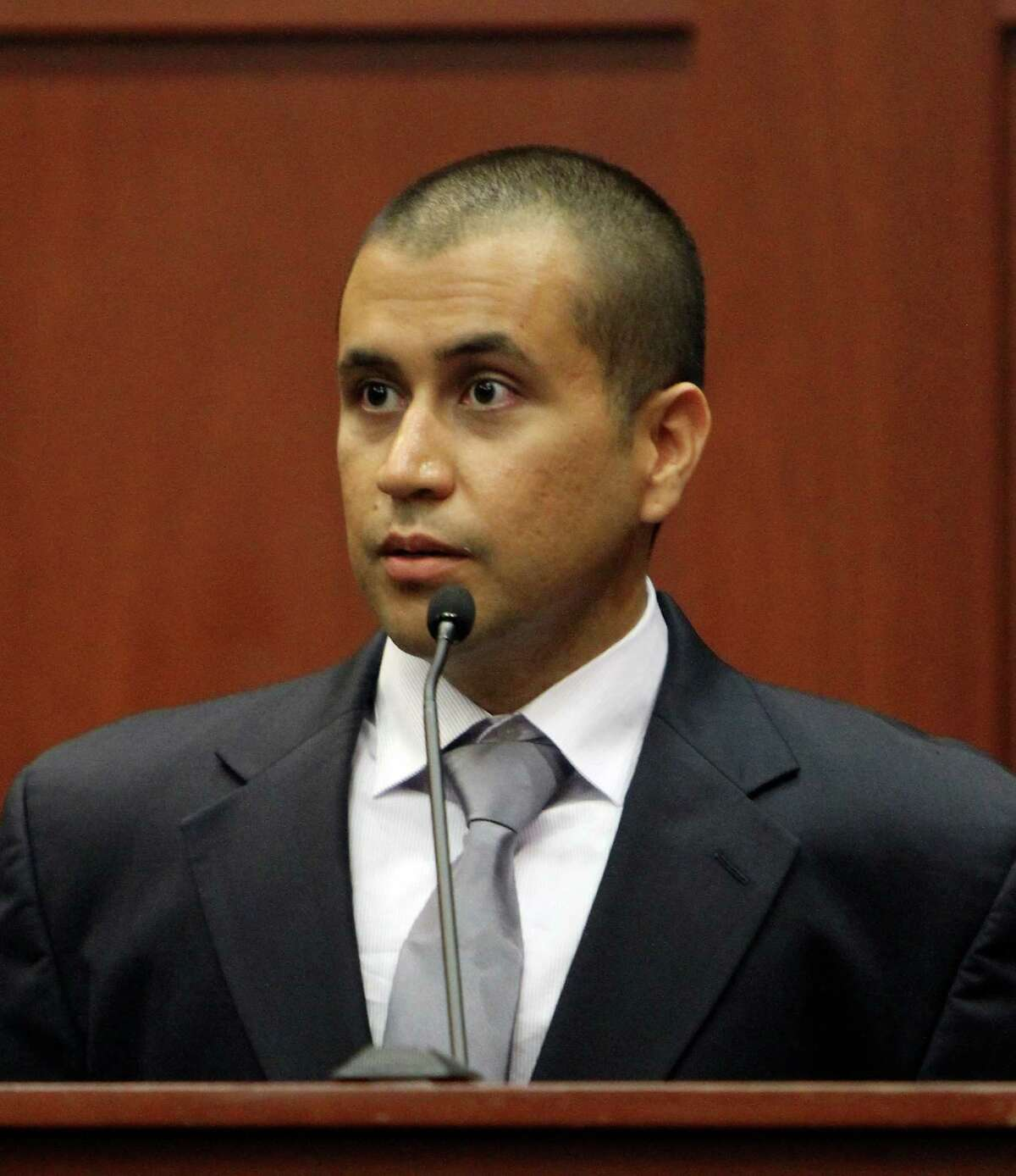 George Zimmerman appears before Circuit Judge Kenneth R. Lester Jr. during a bond hearing. Zimmerman can be released on $150,000 bail as he awaits trial for the shooting death of Trayvon Martin.