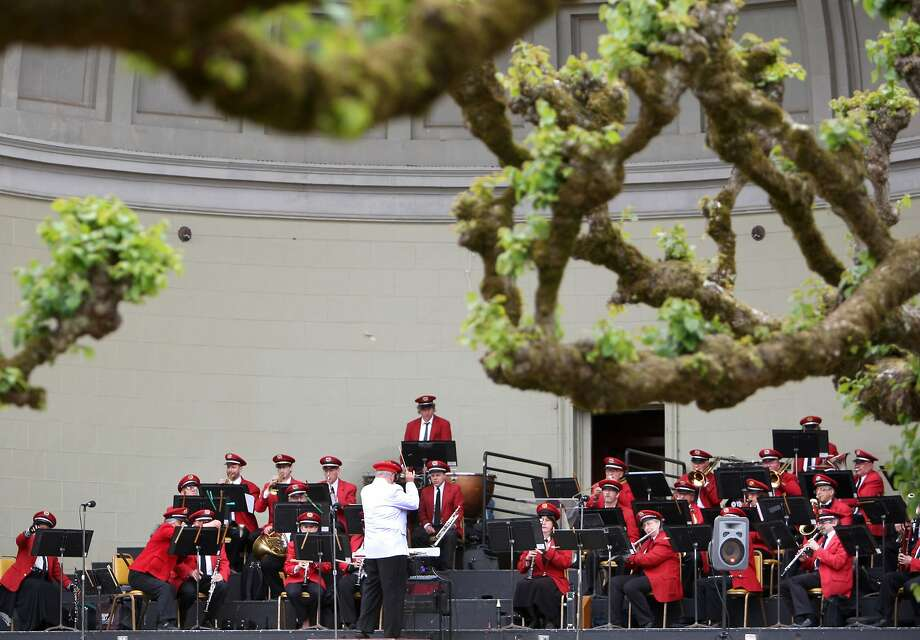 The Golden Gate Band played the first concert of the season at Golden Gate Park in San Francisco on Sunday, marking their 130th season. The Golden Gate Band, conducted by Michael Wirgler, played it's first concert of the season at Golden Gate Park on Sunday marking their 130th year. Photo: Kevin Johnson, The Chronicle